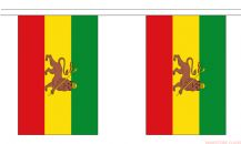 ETHIOPIA WITH LION BUNTING - 3 METRES 10 FLAGS